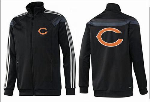 NFL Chicago Bears Team Logo Jacket Black_2