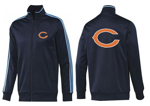 NFL Chicago Bears Team Logo Jacket Dark Blue_2