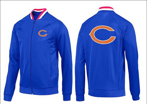 NFL Chicago Bears Team Logo Jacket Blue_1