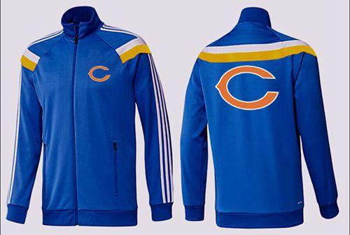 NFL Chicago Bears Team Logo Jacket Blue_2
