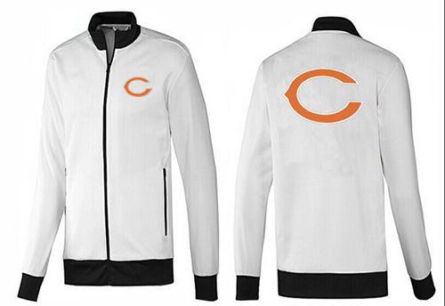 NFL Chicago Bears Team Logo Jacket White_1