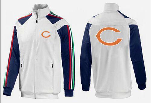 NFL Chicago Bears Team Logo Jacket White_2