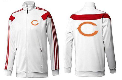 NFL Chicago Bears Team Logo Jacket White_3