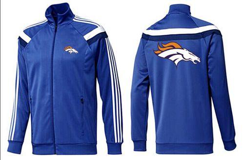 NFL Denver Broncos Team Logo Jacket Blue_4