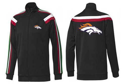 NFL Denver Broncos Team Logo Jacket Black_2