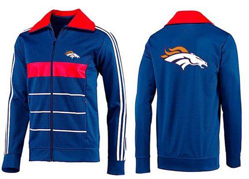 NFL Denver Broncos Team Logo Jacket Blue_5