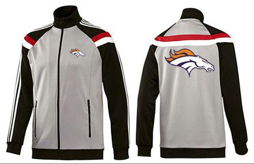NFL Denver Broncos Team Logo Jacket Grey