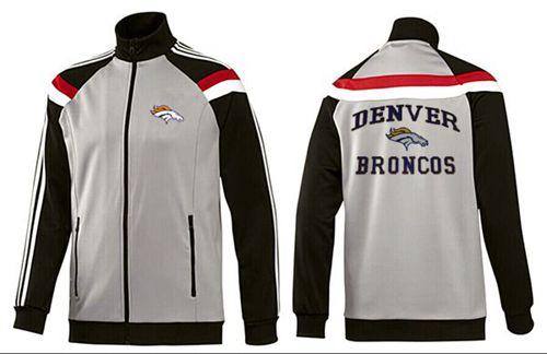 NFL Denver Broncos Heart Jacket Grey