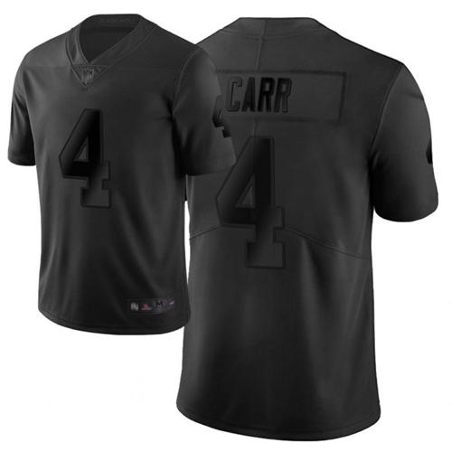 Nike Raiders #4 Derek Carr Black Men's Stitched NFL Limited City Edition Jersey
