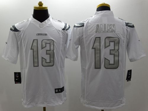 Nike Chargers #13 Keenan Allen White Men's Stitched NFL Limited Platinum Jersey