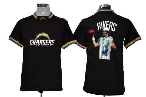 Nike Chargers #17 Philip Rivers Black Men's NFL Game All Star Fashion Jersey