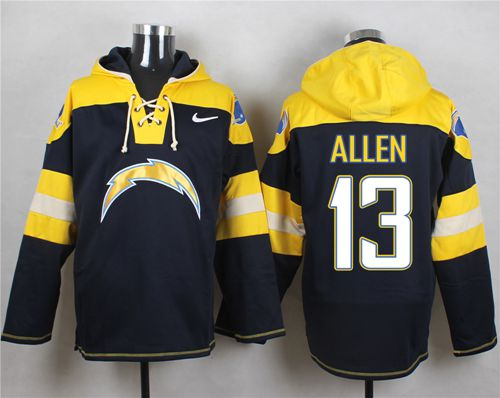 Nike Chargers #13 Keenan Allen Navy Blue Player Pullover NFL Hoodie