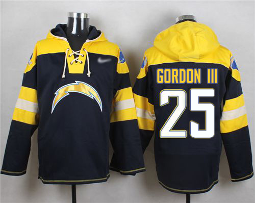 Nike Chargers #25 Melvin Gordon III Navy Blue Player Pullover NFL Hoodie