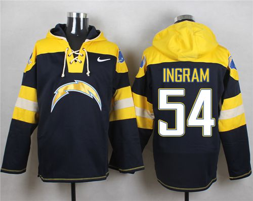 Nike Chargers #54 Melvin Ingram Navy Blue Player Pullover NFL Hoodie