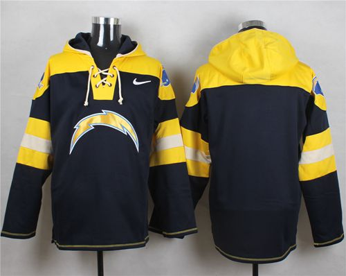 Nike Chargers Blank Navy Blue Player Pullover NFL Hoodie