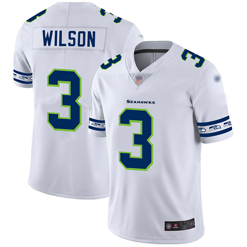 Nike Seahawks #3 Russell Wilson White Men's Stitched NFL Limited Team Logo Fashion Jersey