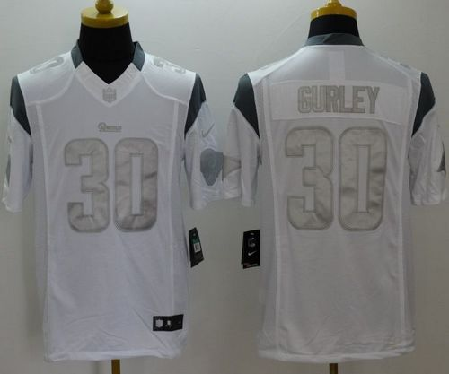 Nike Rams #30 Todd Gurley White Men's Stitched NFL Limited Platinum Jersey