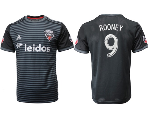 D.C. United #9 Rooney Home Soccer Club Jersey