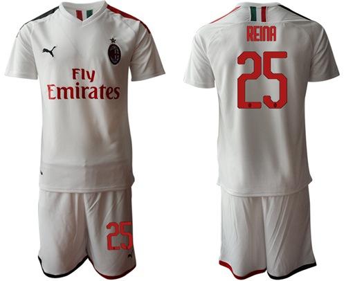 AC Milan #25 Reina Away Soccer Club Jersey