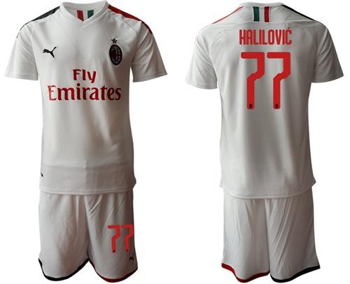 AC Milan #77 Halilovic Away Soccer Club Jersey