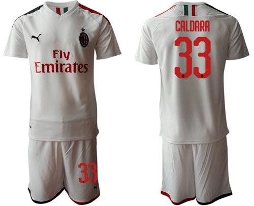 AC Milan #33 Caldara Away Soccer Club Jersey