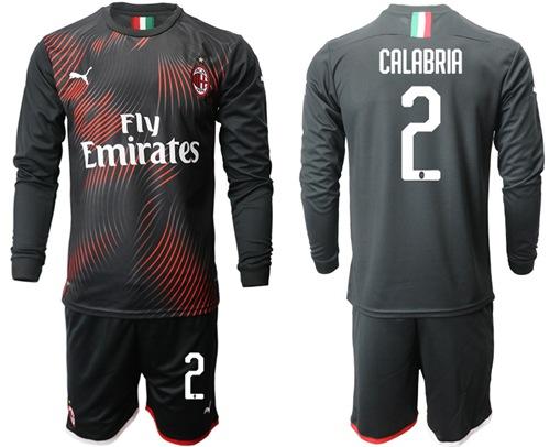AC Milan #2 Calabria Third Long Sleeves Soccer Club Jersey