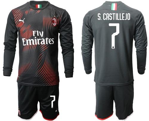 AC Milan #7 S.Castillejo Third Long Sleeves Soccer Club Jersey