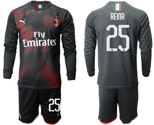 AC Milan #25 Reina Third Long Sleeves Soccer Club Jersey