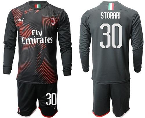 AC Milan #30 Storari Third Long Sleeves Soccer Club Jersey