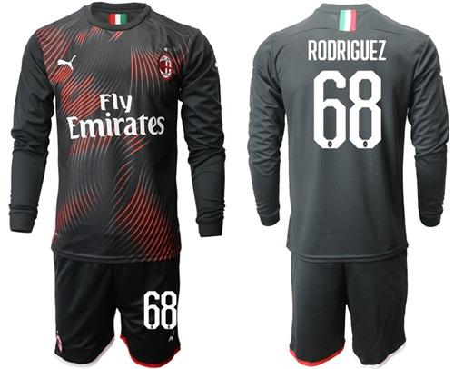 AC Milan #68 Rodriguez Third Long Sleeves Soccer Club Jersey