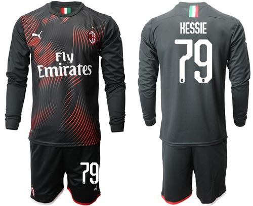 AC Milan #79 Hessie Third Long Sleeves Soccer Club Jersey
