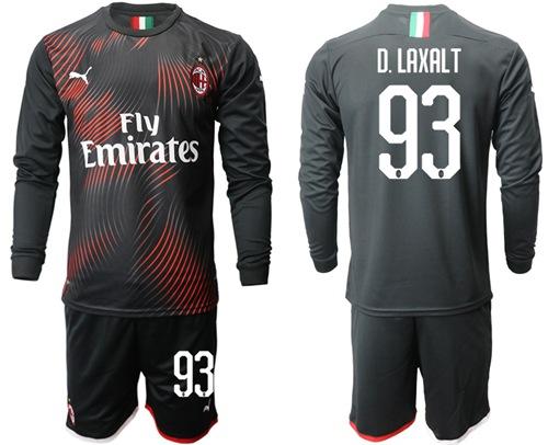 AC Milan #93 D.Laxalt Third Long Sleeves Soccer Club Jersey