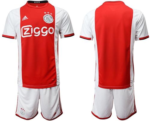 Ajax Blank Home Soccer Club Jersey