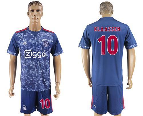 Ajax #10 Klaassen Away Soccer Club Jersey