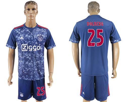 Ajax #25 Dolberg Away Soccer Club Jersey