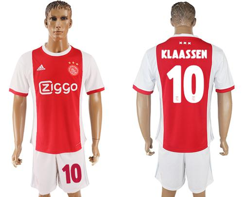Ajax #10 Klaassen Home Soccer Club Jersey