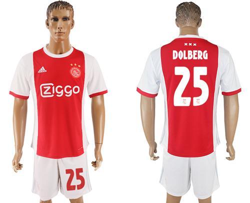 Ajax #25 Dolberg Home Soccer Club Jersey