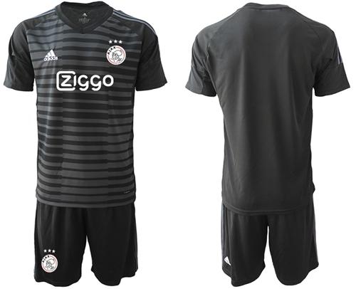 Ajax Blank Black Goalkeeper Soccer Club Jersey