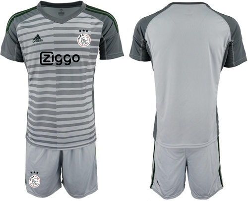 Ajax Blank Grey Goalkeeper Soccer Club Jersey
