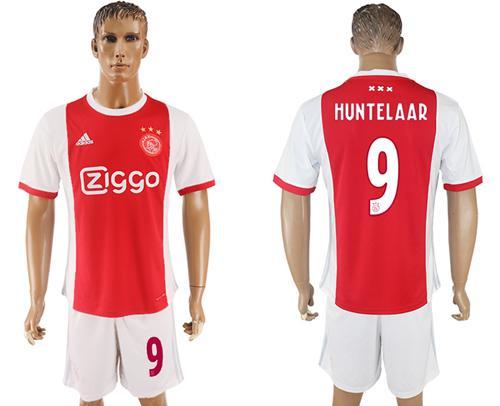 Ajax #9 Huntelaar Home Soccer Club Jersey