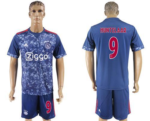Ajax #9 Huntelaar Away Soccer Club Jersey