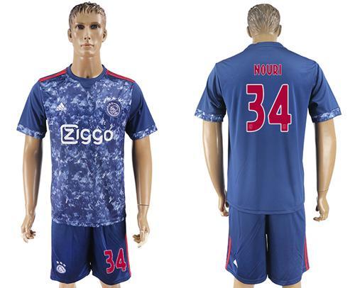 Ajax #34 Nouri Away Soccer Club Jersey