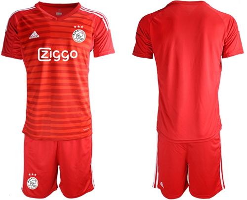 Ajax Blank Red Goalkeeper Soccer Club Jersey