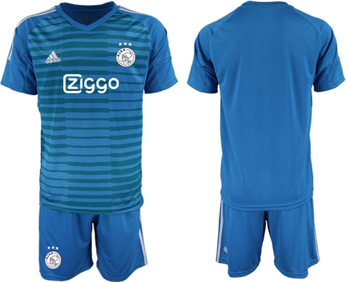 Ajax Blank Blue Goalkeeper Soccer Club Jersey