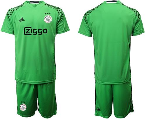 Ajax Blank Shiny Green Goalkeeper Soccer Club Jersey