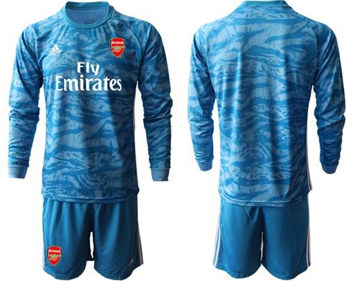 Arsenal Blank Light Blue Goalkeeper Long Sleeves Soccer Club Jersey