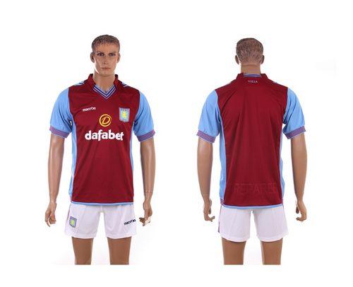 Aston Villa Blank Red Home Soccer Club Jersey