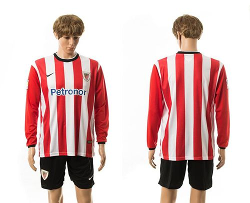 Athletic Bilbao Blank Home Long Sleeves Soccer Club Jersey