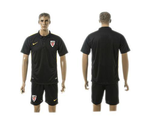 Athletic Bilbao Blank Black Training Soccer Club Jersey
