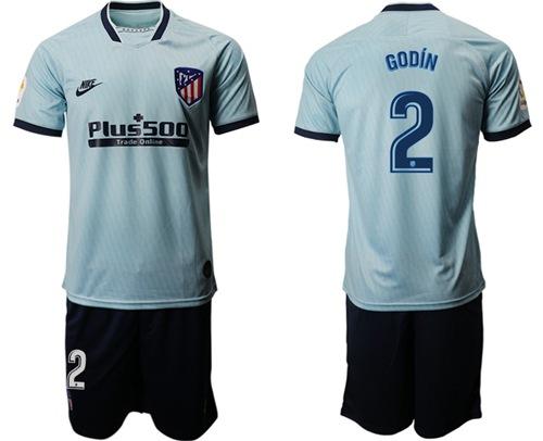 Atletico Madrid #2 Godin Third Soccer Club Jersey